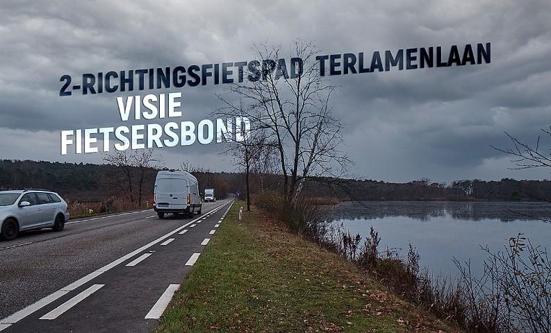 2-richtingsfietspad N729 Terlamenlaan : Visie fietsersbond